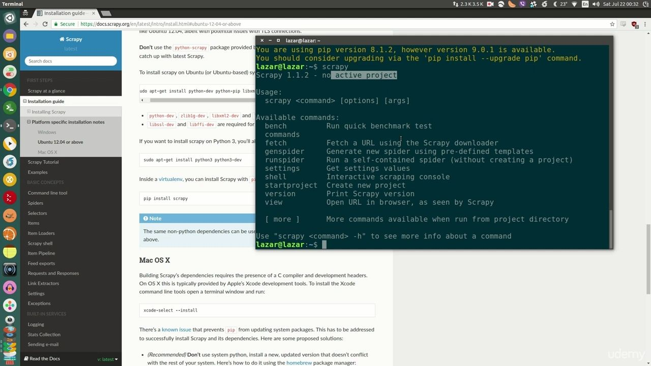 دانلود Udemy Scrapy: Powerful Web Scraping & Crawling with Python
