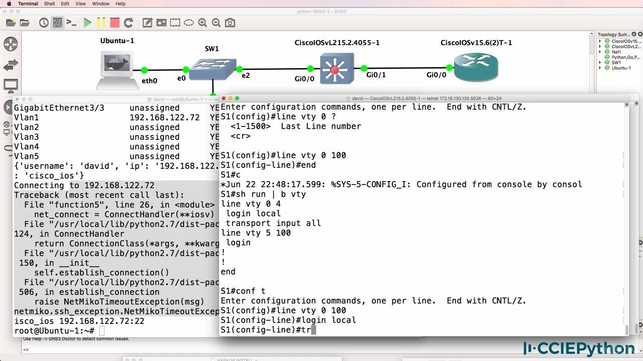 دانلود Udemy Python for Network Engineers: Netmiko, NAPALM