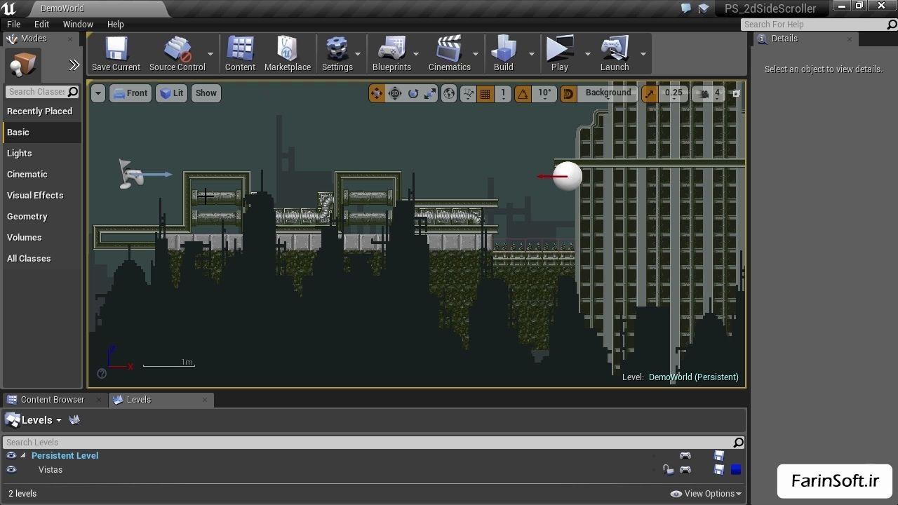 دانلود PluralSight Intro to 2D Side Scrollers in Unreal Engine