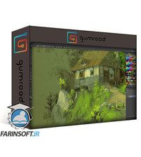 دانلود Gumroad How to Paint a Digital Painting – The Hut in the Woods