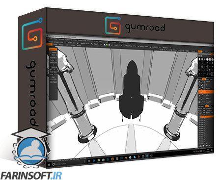 دانلود Gumroad Jama Jurabaev – How to create a panoramic 360 painting VOL.II