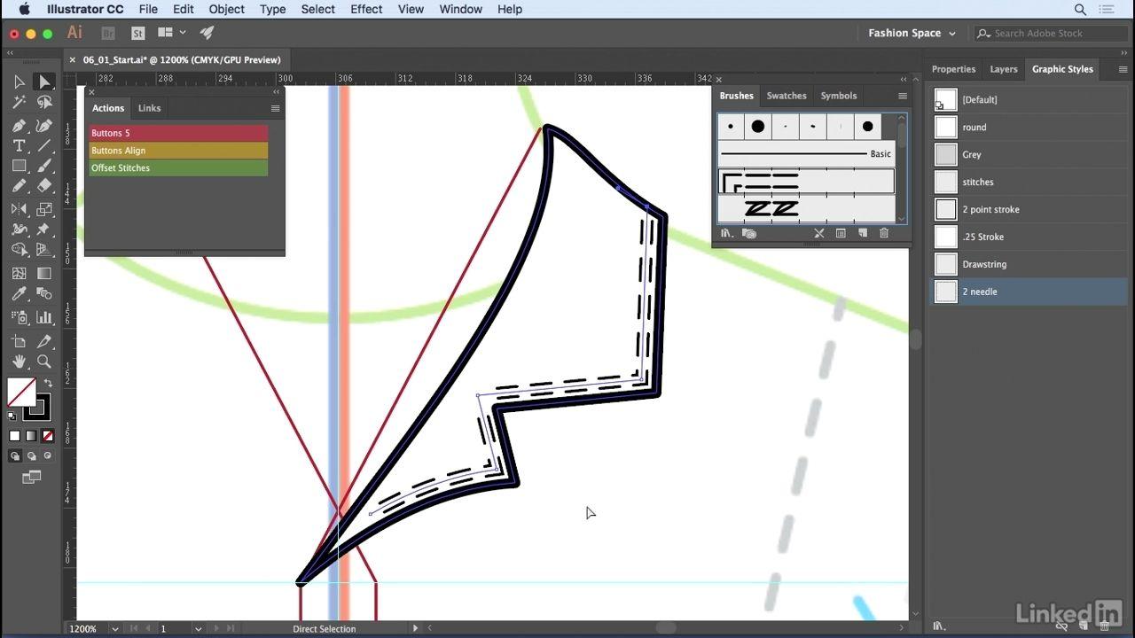 دانلود Lynda Illustrator For Fashion Design Advanced Drawing Flats