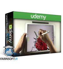 دانلود Udemy Real ink and watercolor brushes on an iPad