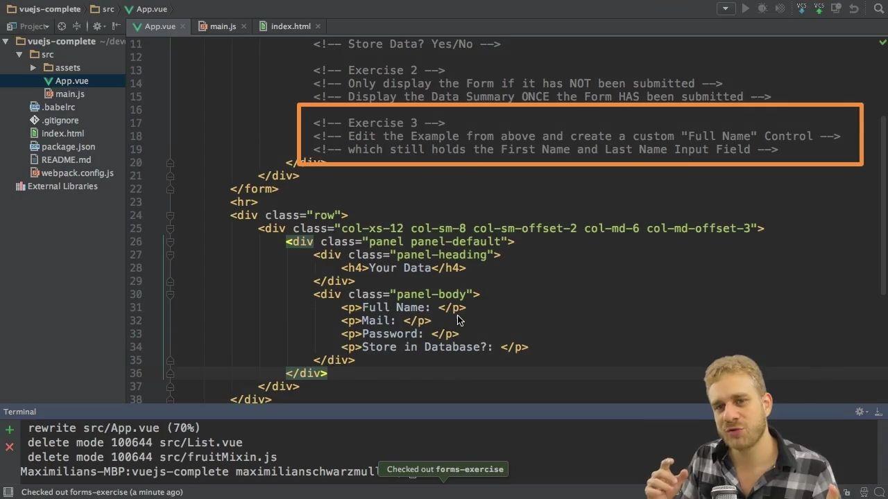 دانلود Udemy Vue JS 2 – The Complete Guide (incl  Vue Router & Vuex)
