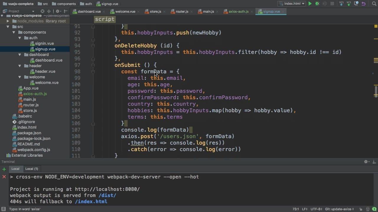 دانلود Udemy Vue JS 2 - The Complete Guide (incl  Vue Router & Vuex)