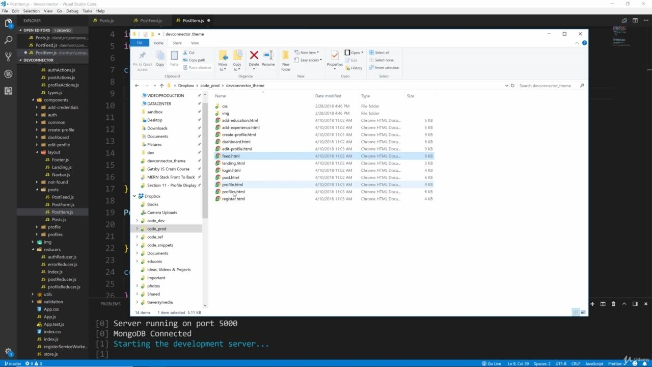 دانلود Udemy MERN Stack Front To Back: Full Stack React