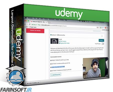 دانلود Udemy Node js for Beginners - Become a Node js Developer +
