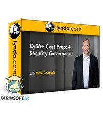 دانلود Lynda CySA+ Cert Prep: 4 Security Governance