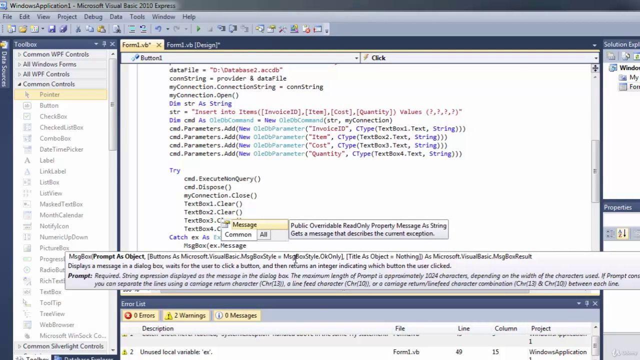 دانلود Udemy Learning Visual Basic  NET - A Guide To VB NET