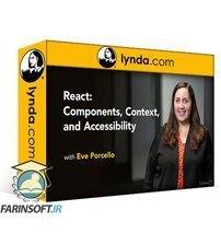 دانلود Lynda React: Components, Context, and Accessibility