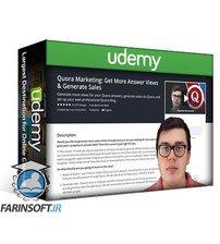 دانلود Udemy Quora Marketing: Get More Answer Views & Generate Sales