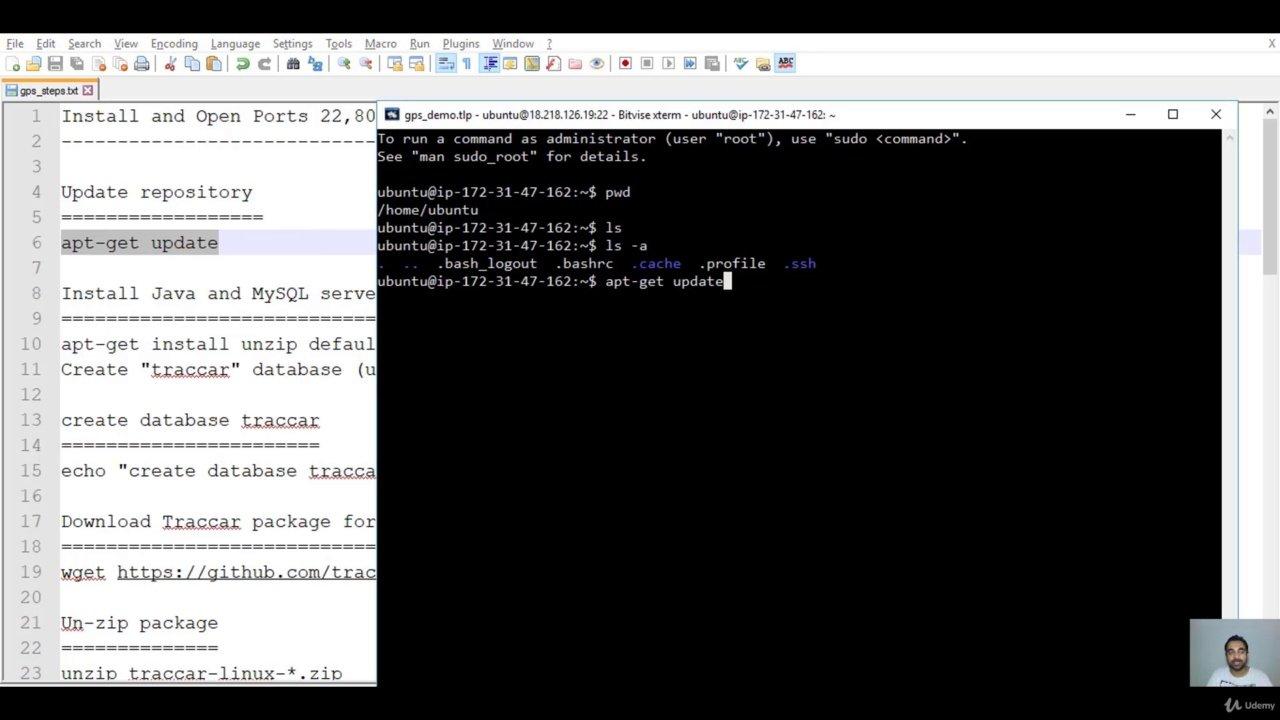 دانلود Udemy GPS Tracking - Setup own GPS Server with