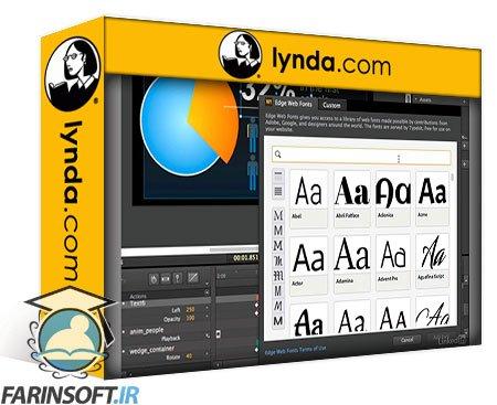دانلود lynda Creating an Animated Infographic with Edge Animate