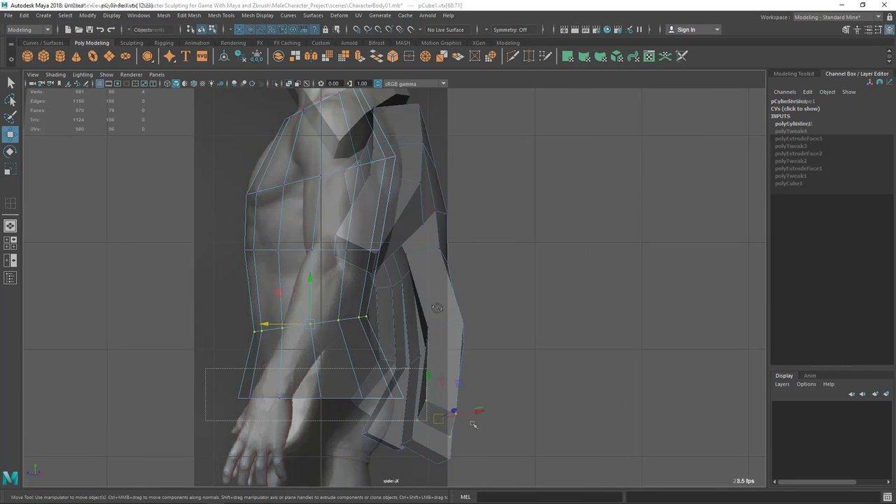 دانلود Udemy Realistic Character Modeling For Game In Maya