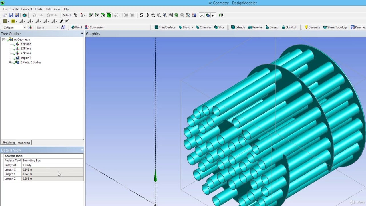 دانلود Udemy ANSYS DesignModeler Essentials