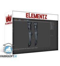 دانلود Elementza Hard surface design with Spline Mask in Cinema 4D