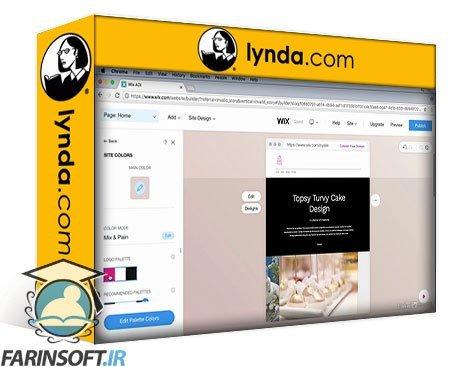 دانلود lynda Learning Wix