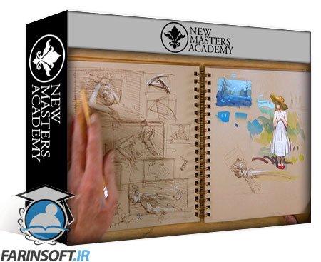 دانلود New Master Academy The Artist's Sketchbook Watercolor & Pen