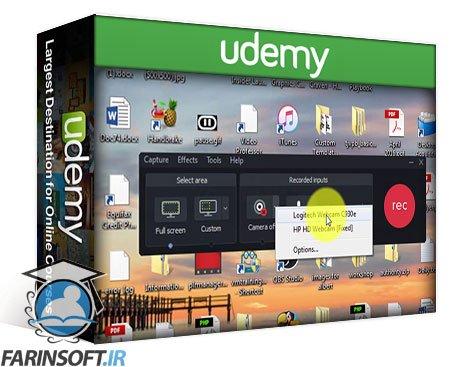 دانلود Udemy Learn Camtasia 9 from zero to a professional video producer