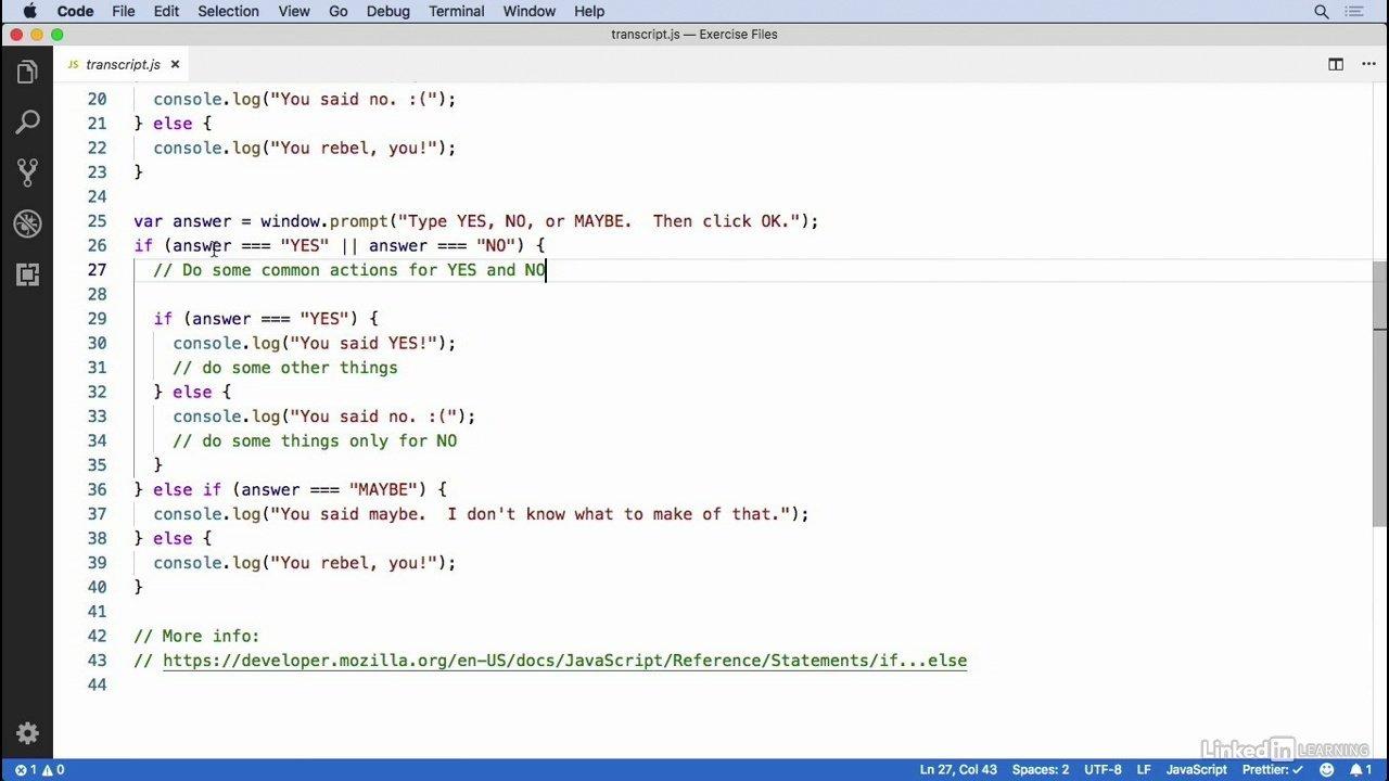 دانلود lynda Learning the JavaScript Language