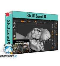 دانلود Skillfeed Realistic Dinosaur Sculpting in Zbrush for Game and Film