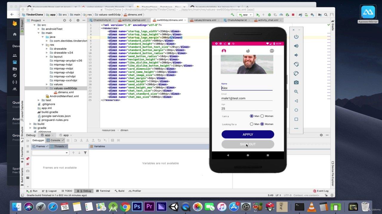 دانلود Udemy Build a Tinder Clone for Android from scratch