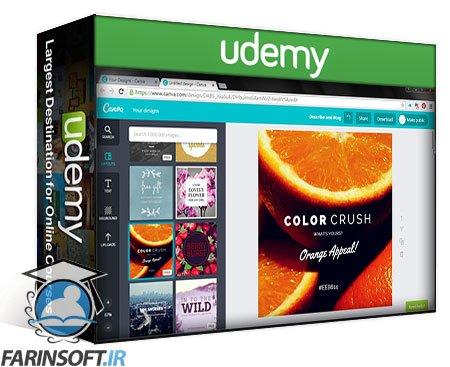 دانلود Udemy Canva for Beginners – Graphic Design Theory Volume 2