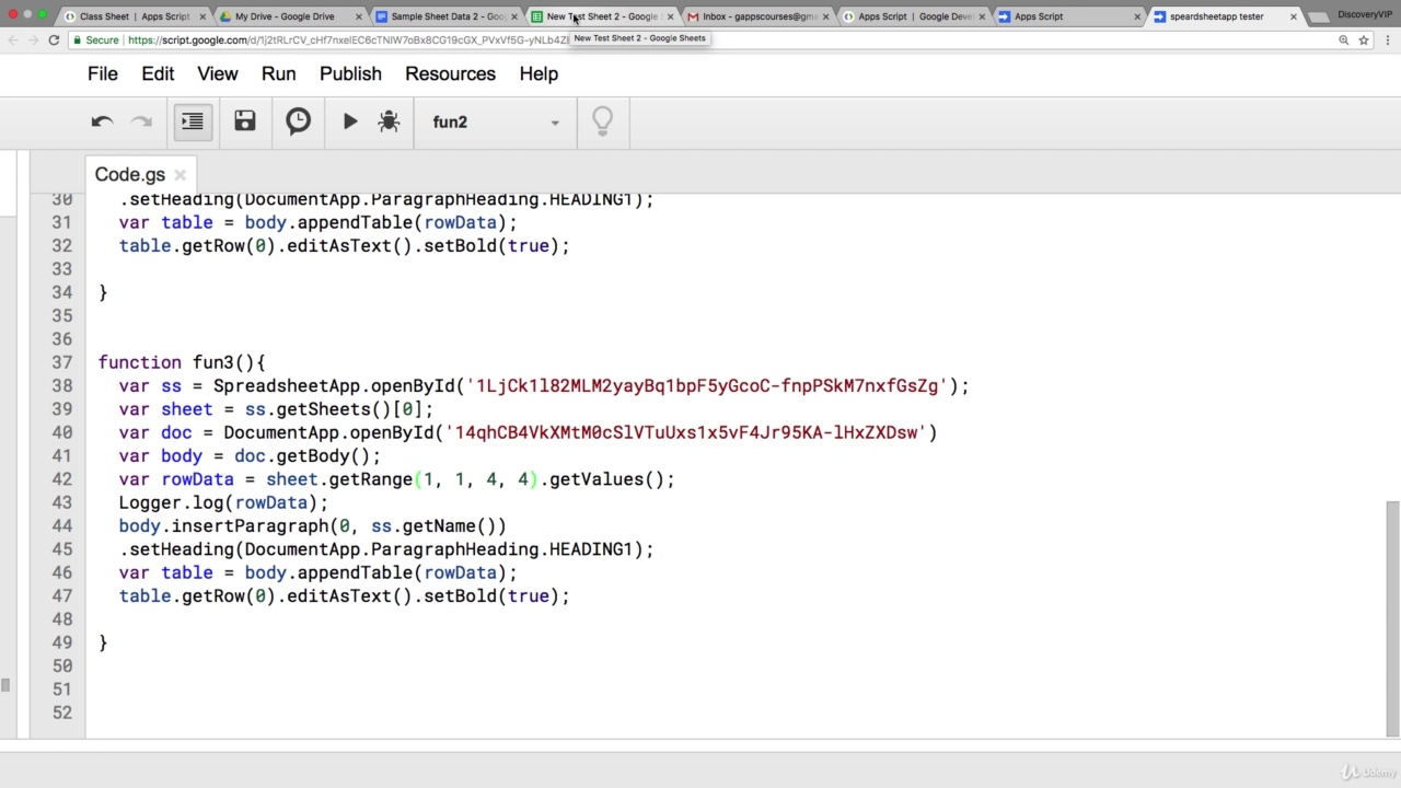 دانلود Udemy Google Apps Script Complete Course - Beginner to Advanced