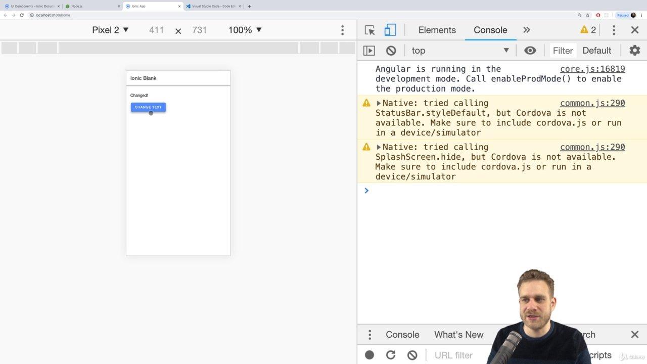 دانلود Udemy Ionic 4 - Build iOS, Android & Web Apps with Ionic