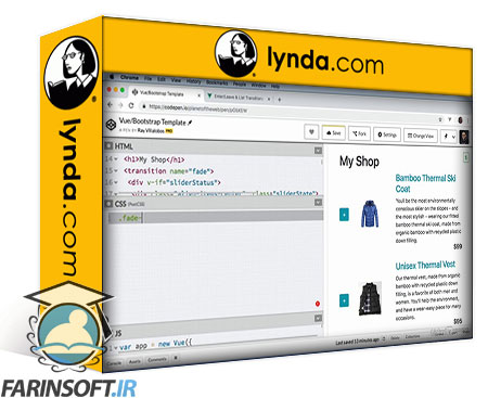دانلود lynda Vue.js Essential Training