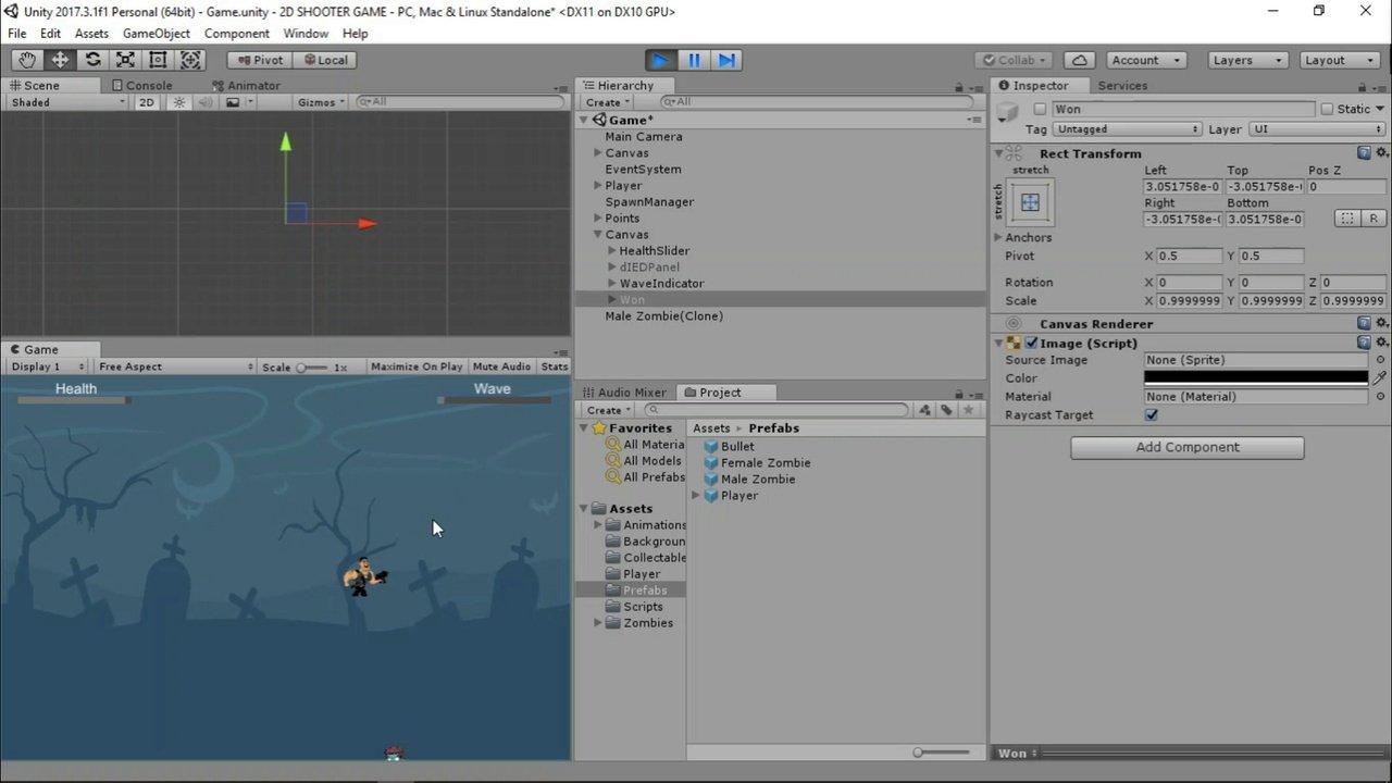 دانلود Udemy Develop a 2D Shooter game in Unity
