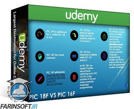 دانلود Udemy PIC18 Microcontroller: Step By Step Guide