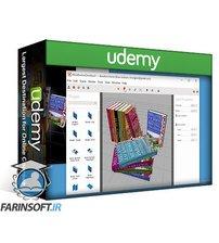 دانلود Udemy Self-publishing/Self-publish 3D Book Cover Marketing Mockups