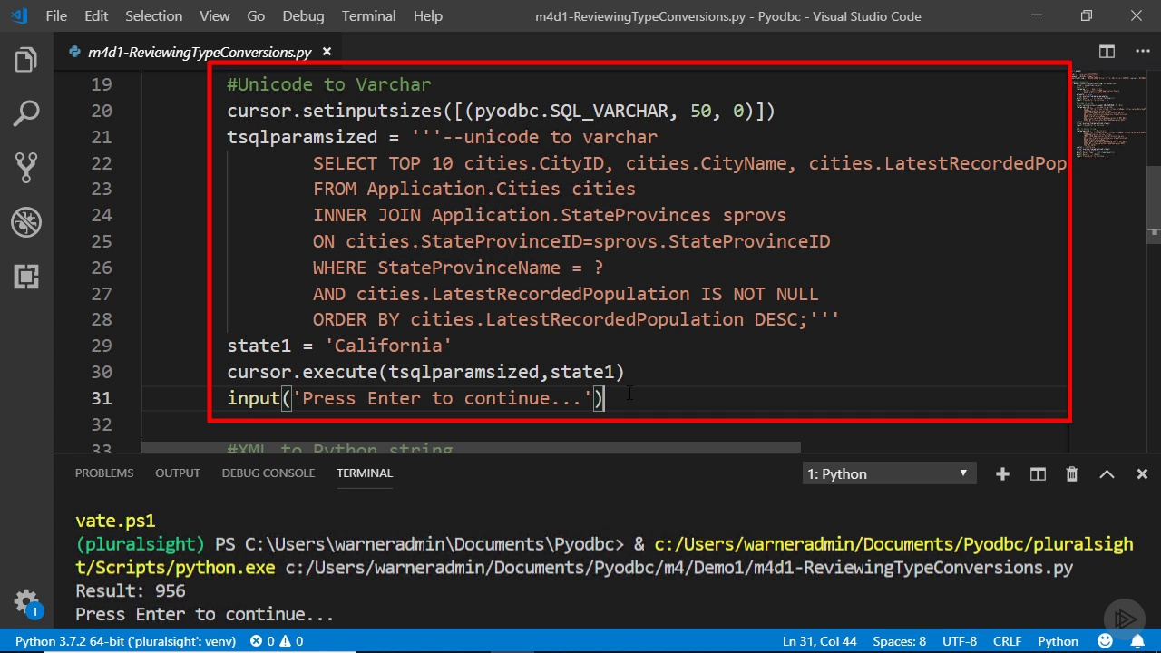 دانلود PluralSight Database Programming with Pyodbc: Python
