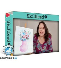 دانلود Skillshare Watercolour Fun – The Paint a Vase of Flowers Series  – Flower Vase 2