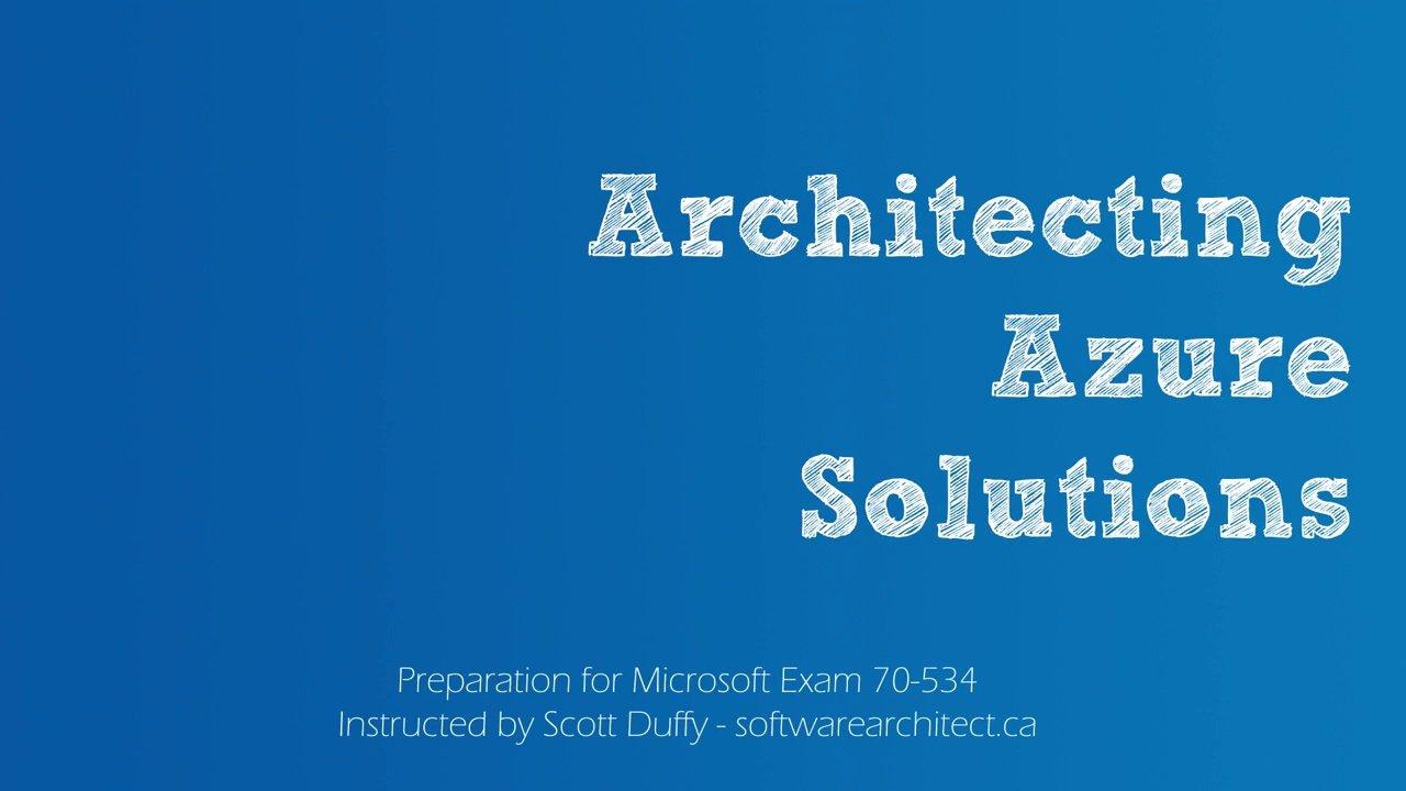 دانلود A Cloud Guru 70-535 Architecting Microsoft Azure Solutions