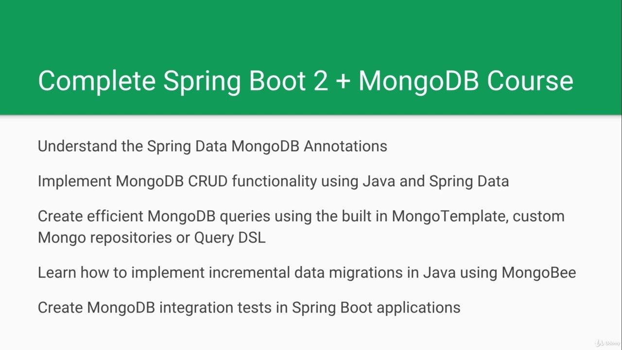 دانلود Udemy Accelerated Spring Boot With MongoDB