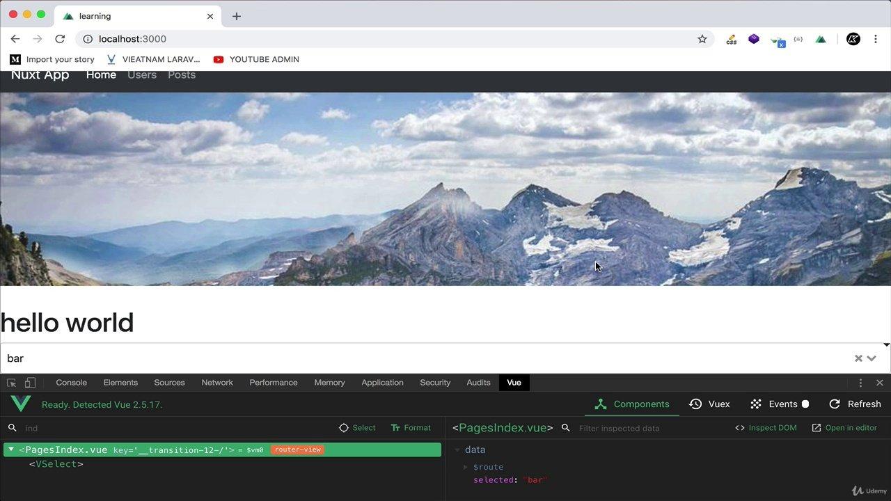 دانلود Udemy Nuxt JS with Laravel API - Building SSR Vue JS Apps