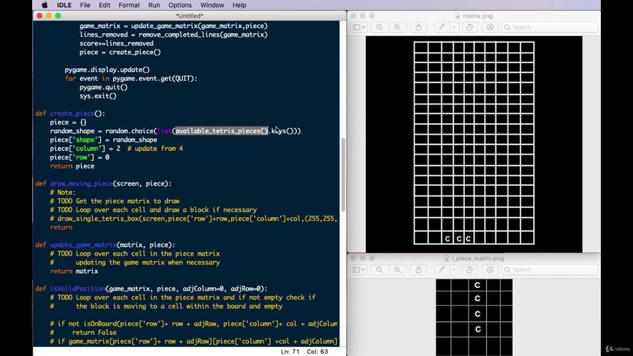 دانلود Udemy Python Game Development - Create a Tetris with