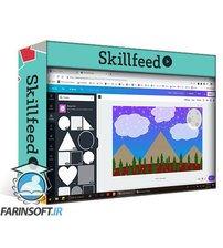 دانلود Skillshare How To Create Flat Design Device Wallpapers Using Canva