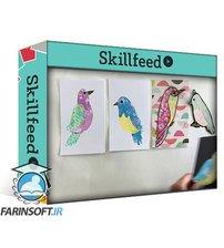 دانلود Skillshare Gel Printed Paper: Collage Birds