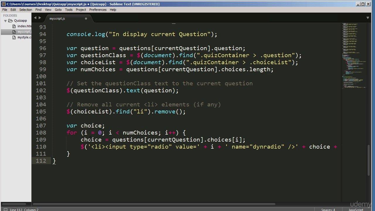 دانلود Udemy 17 Complete JavaScript projects explained step by step
