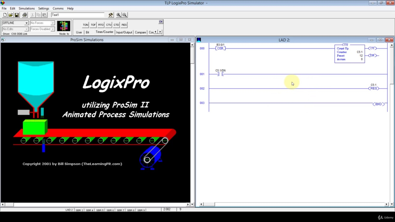 دانلود Udemy PLC & AC Drive with Automatic & Manual Industrial Control