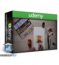 دانلود Udemy How to paint French macarons in Watercolor step by step