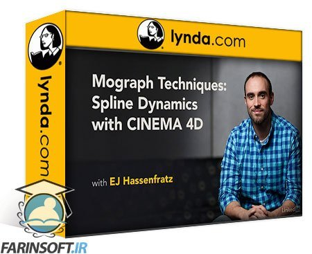 دانلود lynda Mograph Techniques: Spline Dynamics with Cinema 4D