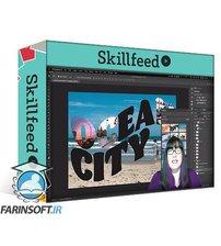 دانلود Skillshare Create a Postcard in Photoshop using Clipping Masks