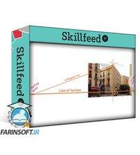 دانلود Skillshare Street sketching, part 4 – Perspective grid for two-point perspective