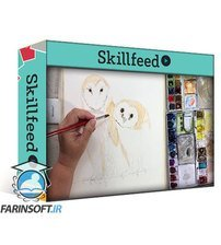 دانلود Skillshare Paint a Watercolor Owl:  Barn Owls