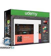 دانلود Udemy Adobe Photoshop CC – Web Design, Responsive Design & UI