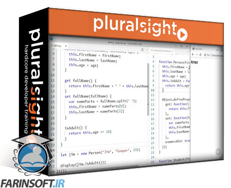 دانلود PluralSight JavaScript Objects, Prototypes, and Classes